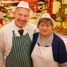 Stewart and Shirley are retiring from Haymans Butchers in Sidmouth. Ref shs 47 19TI 4956. Picture: T