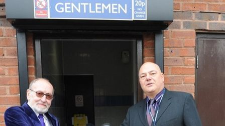 Flashback to 2014 when then councillors Alan Lay and Paul Clapp re-opened the Horsefair toilets