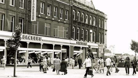 Station Square in Lowestoft in the early 1980s.