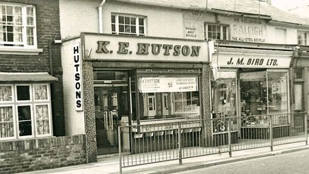 Hutson's the butchers inLondon Road South, Lowestoft in the late 1970s.