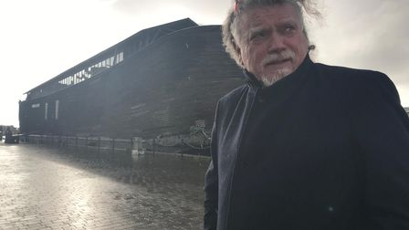 Dutchman Aad Peters has brought his replica of Noah's Ark to Ipswich docks for three months. Picture