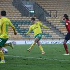 Kieran Dowell of Norwich scores his sides 5th goal during the Sky Bet Championship match at Carrow R