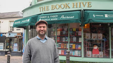 Henry Layte, owner of The Book Hive on London Street in Norwich. Picture: Danielle Booden