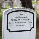 Mary Ann Weems gravestone at Godmanchester.
