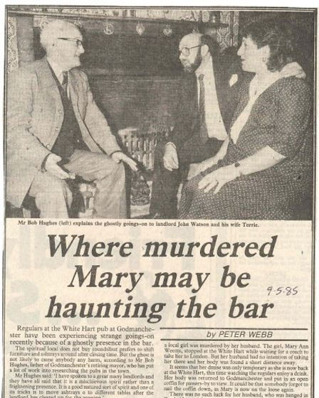 The story of the haunted pub appeared in the local press.