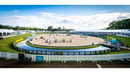 Aerial image of Bolesworth horse show