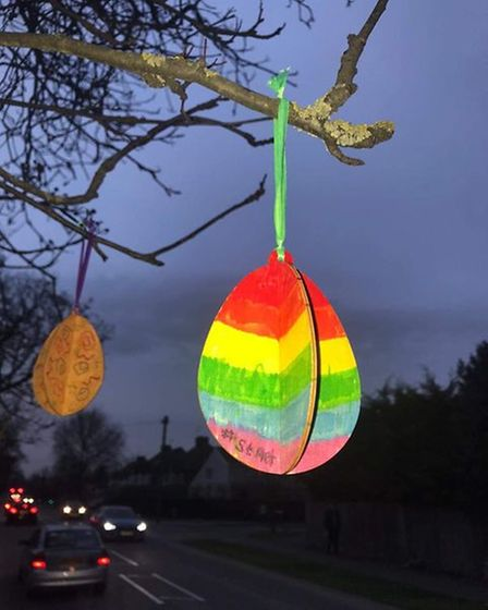 Rainbow eggs popped up all over the district for St Albans Rainbow Trail's Easter initiative