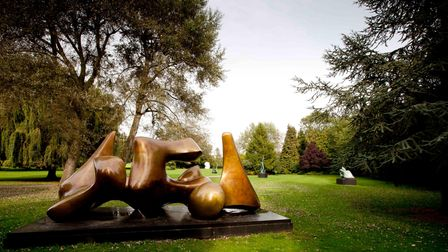 Three Piece Sculpture: Vertebrae,1968 by Henry Moore at Perry Green