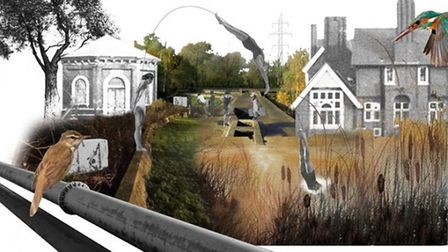 The East London Waterworks Park imagined by architect Kirsty Badenoch.