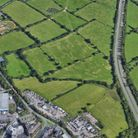 An aerial view of Legal & General's proposedfilm and TV studios site east of Rowley Lane and bordering the A1.