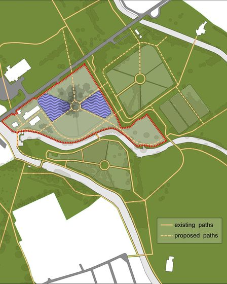 Map of the proposed East London Waterworks Park.