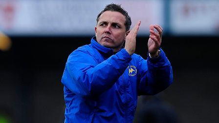 Torquay United's Manager, Paul Buckle applauds the Torquay United fans - Photo mandatory by-line:Phi
