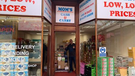Stuart Dodson, of Mom's Cash and Carry, at Victoria Arcade in Great Yarmouth.
