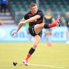 Saracens' Owen Farrell warming up at Allianz Park