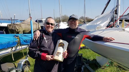 Susie Sontag and Les Rant of Grafham Water Sailing Club
