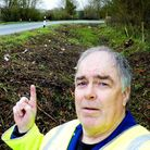 Kym Bannister has picked up 55 bags of rubbish in Great Graveley.
