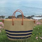 Conjuring a coastal scheme is plain sailing with these top finds. Bato Marine Bag, Basket Basket, lifestyle.