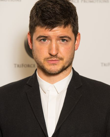 James Alexandrou arrives at the TriForce Short Film Festival, at BAFTA in central London.