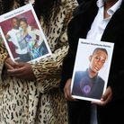 Mothers whose sons were the victims of fatal knife crime Lorraine Jones (left) and Lillian Serunkuma.