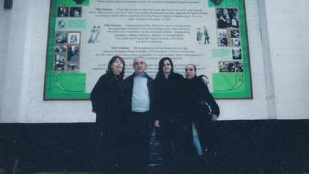 Robin Spiro with family at St Christopher's Place in the West End