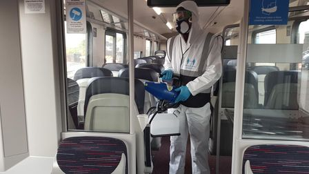 Fogging gun used by Greater Anglia staff