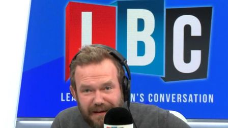 James O'Brien was overjoyed when a caller told him the first thing he done when he woke from a coron