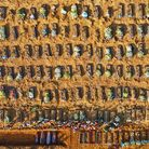 An aerial view of coffins at a mass burial in Parque Taruma cemetery, Manaus, Brazil