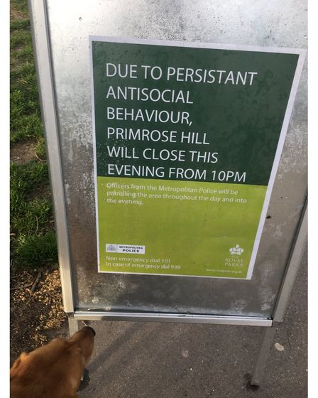 A notice of the closure