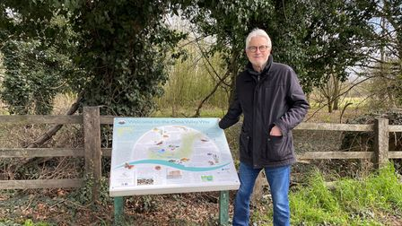 Ian Jackson at Meadow Lane in St Ives on the Ouse Valley Way.