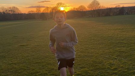 Backwell boy runs 30 milies for Dementia UK