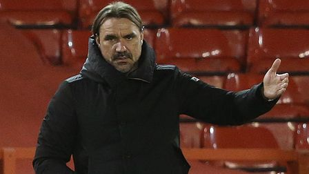 Norwich Head Coach Daniel Farke during the Sky Bet Championship match at the City Ground, Nottingham