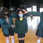 Pupils at La Sainte Union perfect their drama ready to record as part of a Donmar Warehouse workshop