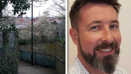 Ben Price is calling for measures to help deter drugson the stairs running between Stan Petersen Close and Beatrice Road