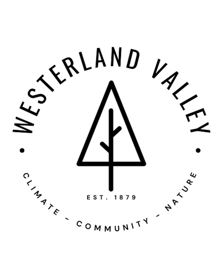 Westerland Valley logo, showcasing the three core aims 'Climate Resilience', 'Connected Communities' and a 'Space for Nature'