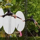 Aerial duo Gravity and Levity will perform at the Garden Party.