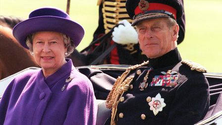 Prince Philip and the Queen in Regent's Park in 1997