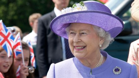 The Queen arrives at Hatfield House