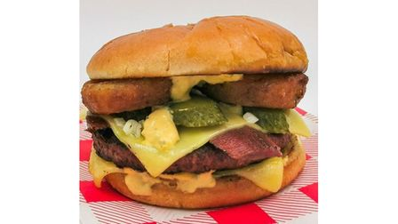 The ultimate vegan burger is a popular feature on Hank's Dirty menu