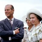 Queen Elizabeth II and the Duke of Edinburgh in Rotorua, New Zealand, during her Silver Jubilee tour