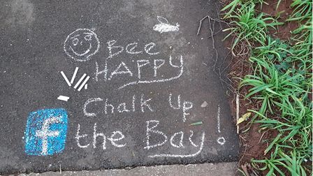 The messages are being chalked across Torbay.