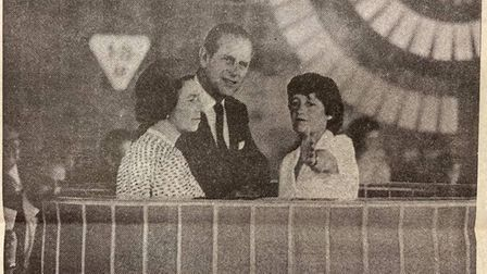 The Queen and Prince Philip visiting Letchworth for the opening of North Herts Leisure Centre