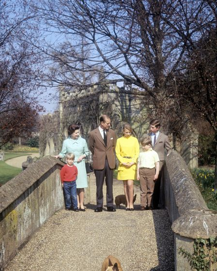 The Royal Family in the grounds of Frogmore House, Windsor, Berkshire