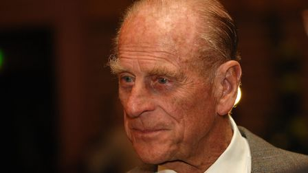 The Duke of Edinburgh speaking to Scouts at the Kings/Queen's Scout Reception held at Sandringham Visitor Centrein 2007