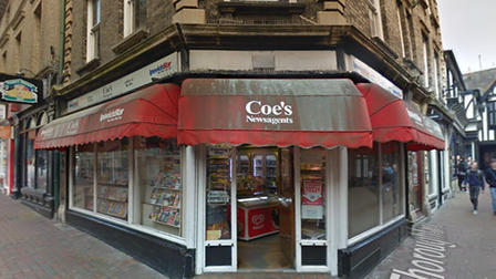 Coes Newsagents in Ipswich, where the incident happened