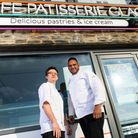 Devon chefs Sylvain Peltier and Michael Caines.