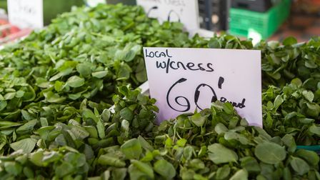 Locally grown watercress is widely available from May onwards