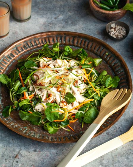 Dorset watercress salad with lemongrass and lime chicken