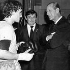 prince philip at west ham boxing club