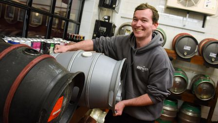 Manager, Dan Arden, prepares the beer barrels as the Brewery Tap gets ready to reopen on Monday when