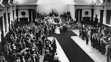 Visit of Her Majesty Queen Elizabeth II and Duke of Edinburgh at Town Hall, Torquay, in May 1956.